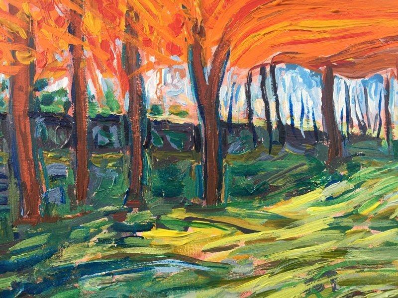 Orange Forest Multicolour flowers detail 2 800x600 x