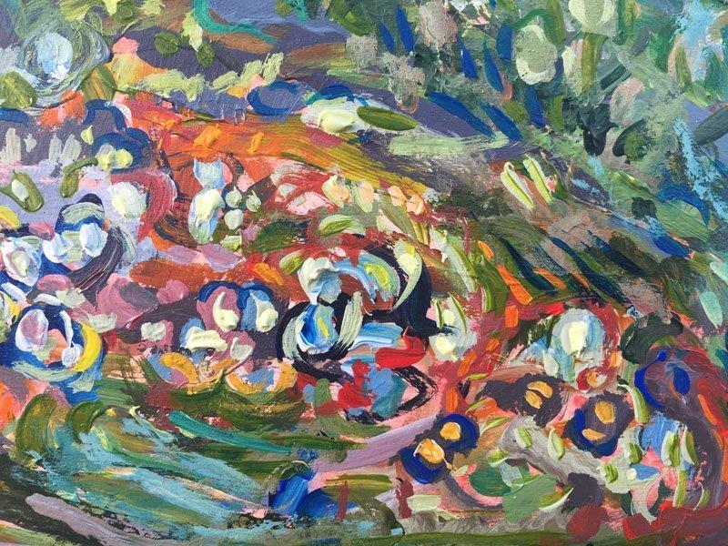 Orange Forest Multicolour flowers detail 3 800x600 x