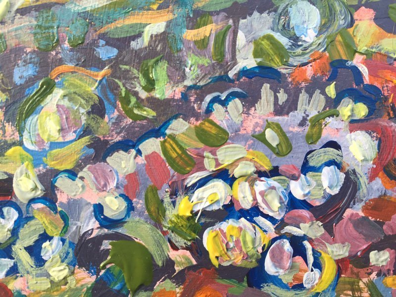 Orange Forest Multicolour flowers detail 5 800x600 x
